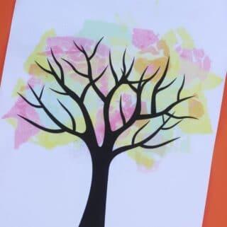bleeding tissue paper fall tree craft