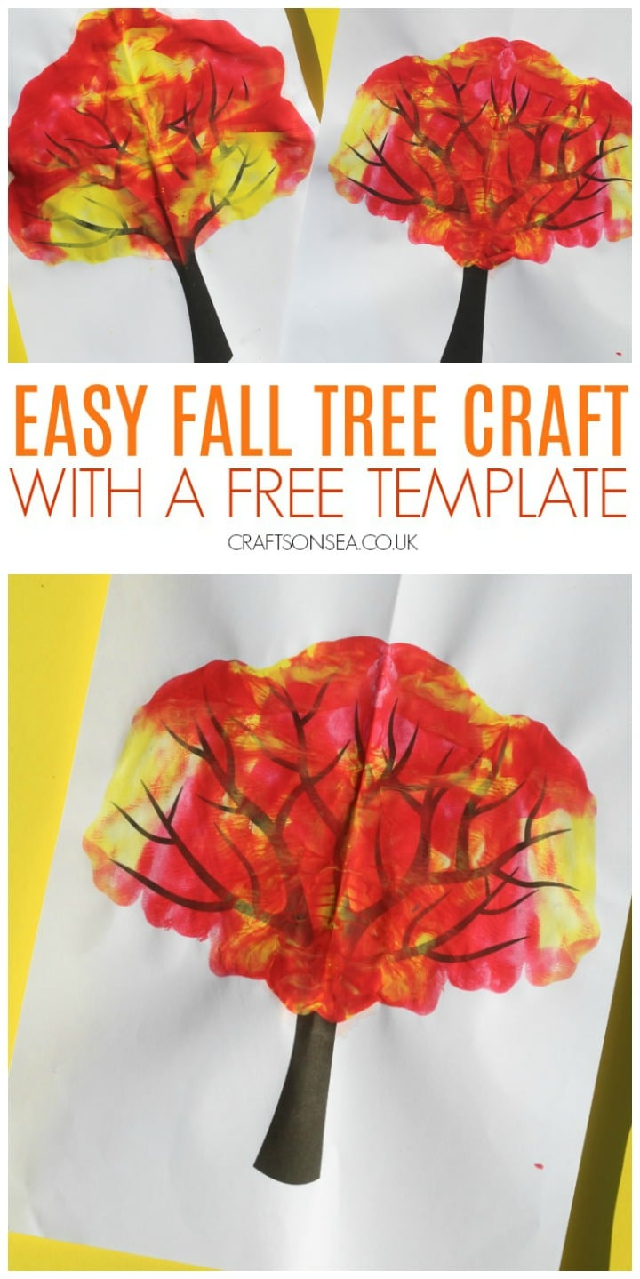 fall tree craft for kids preschool toddler easy painting art idea