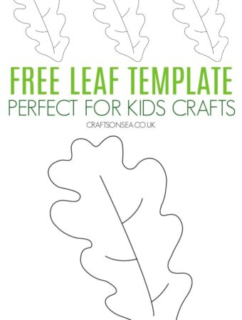 free leaf template printable template PDF for kids crafts