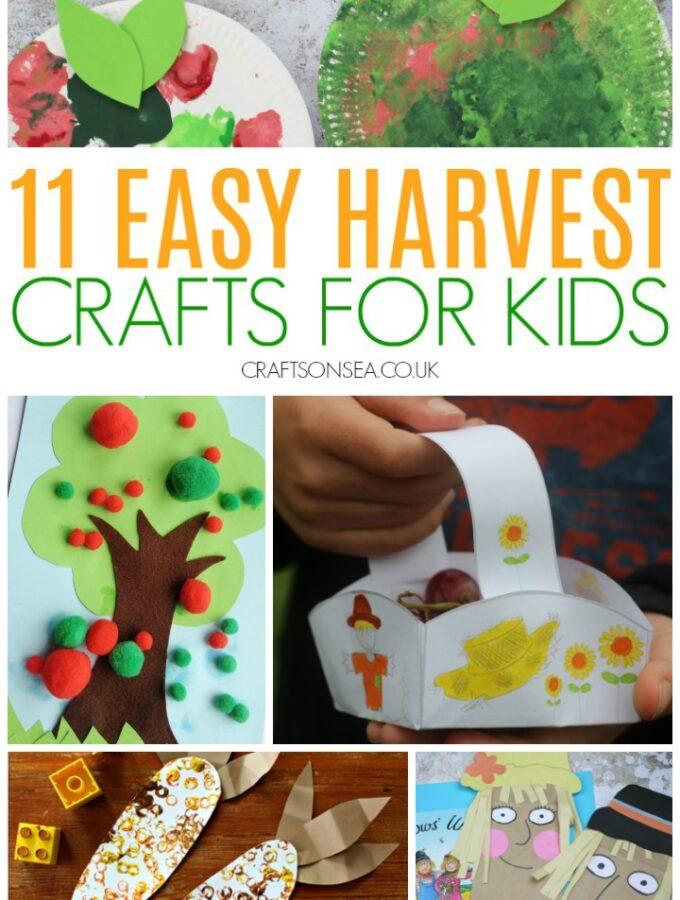 harvest crafts for kids preschool easy scarecrow apples
