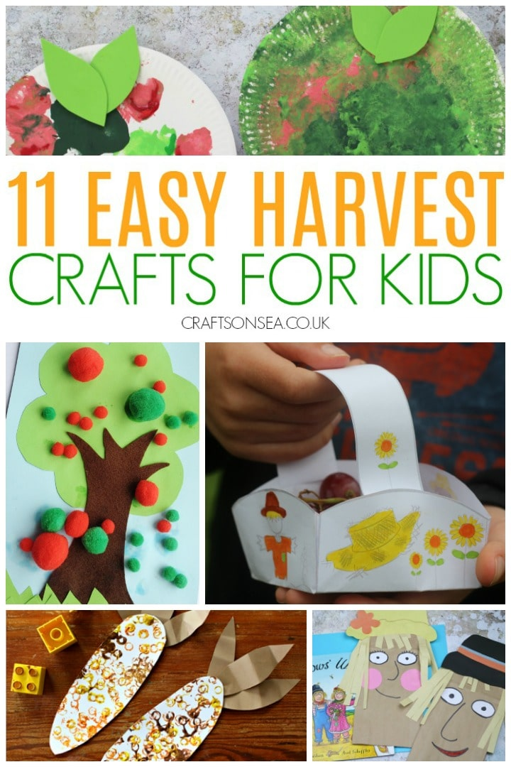 harvest crafts for kids preschool easy scarecrow apples