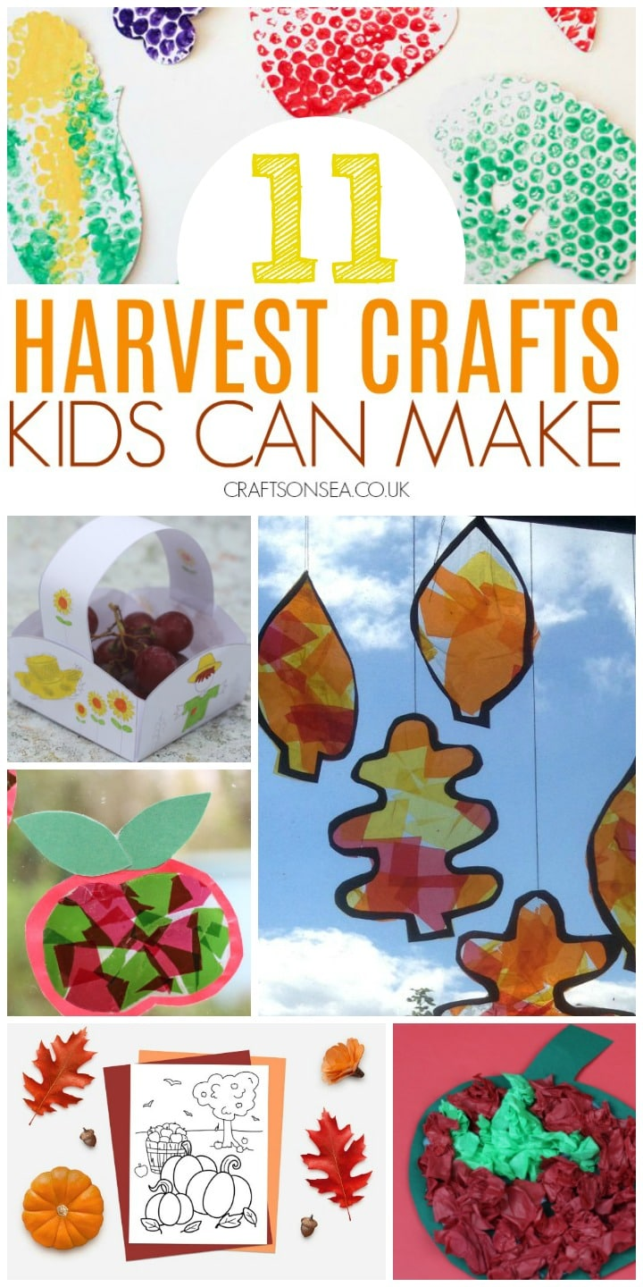 harvest crafts for kids to make toddlers church