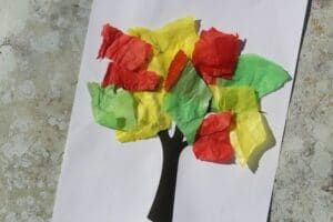 how to make a bleeding tissue fall tree craft