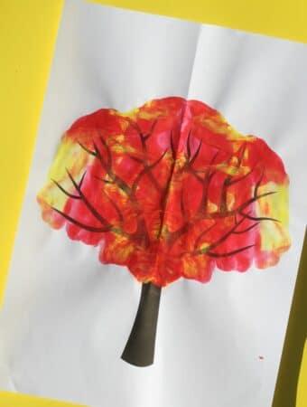 paint splat fall tree craft