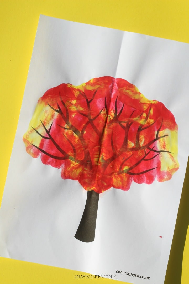 paint splat fall tree craft