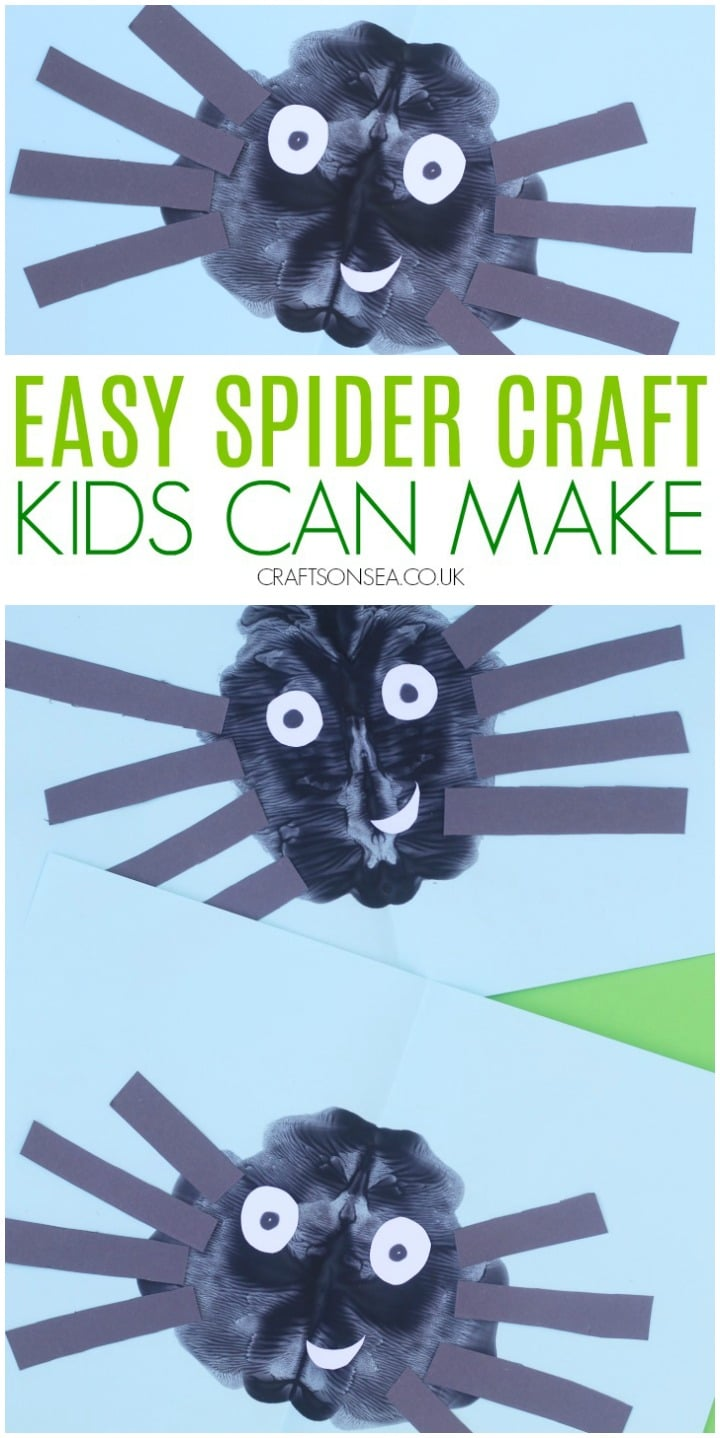 paint splat spider crafts for preschoolers and toddlers easy