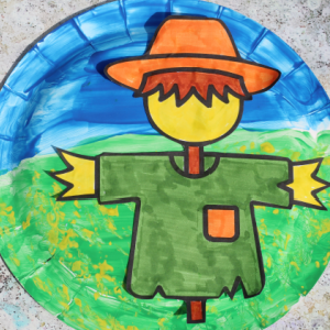 paper plate scarecrow 300