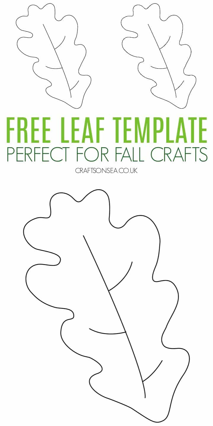 printable simple leaf template PDF