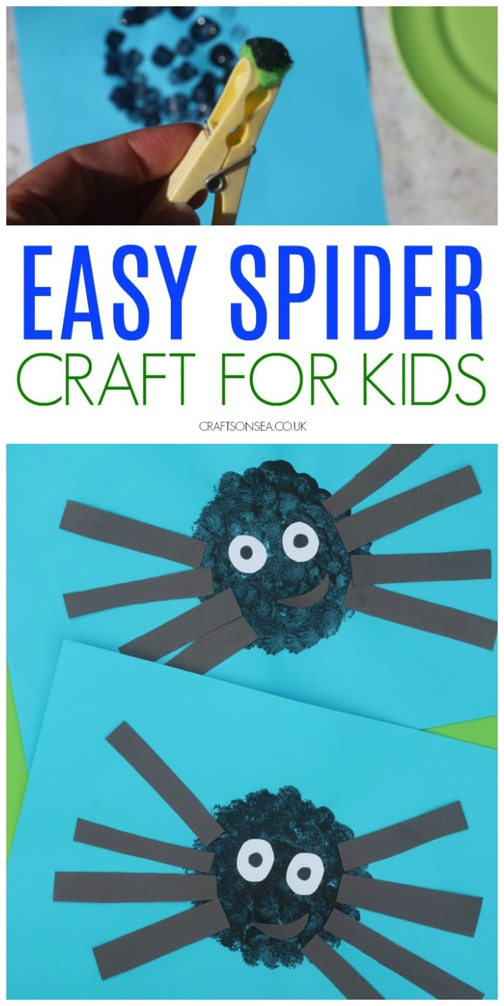 spider craft for kids preschool toddlers