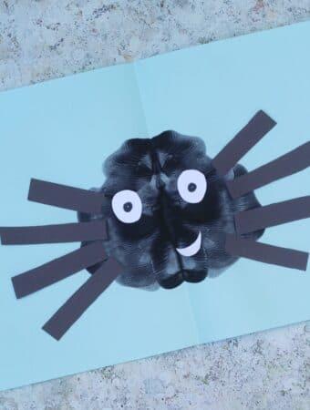 spider craft preschool eyfs paint splat