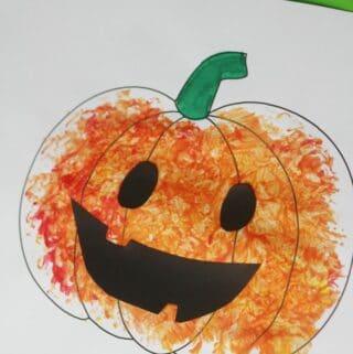 FOIL PAINTED PUMPKIN CRAFT FOR KIDS EASY