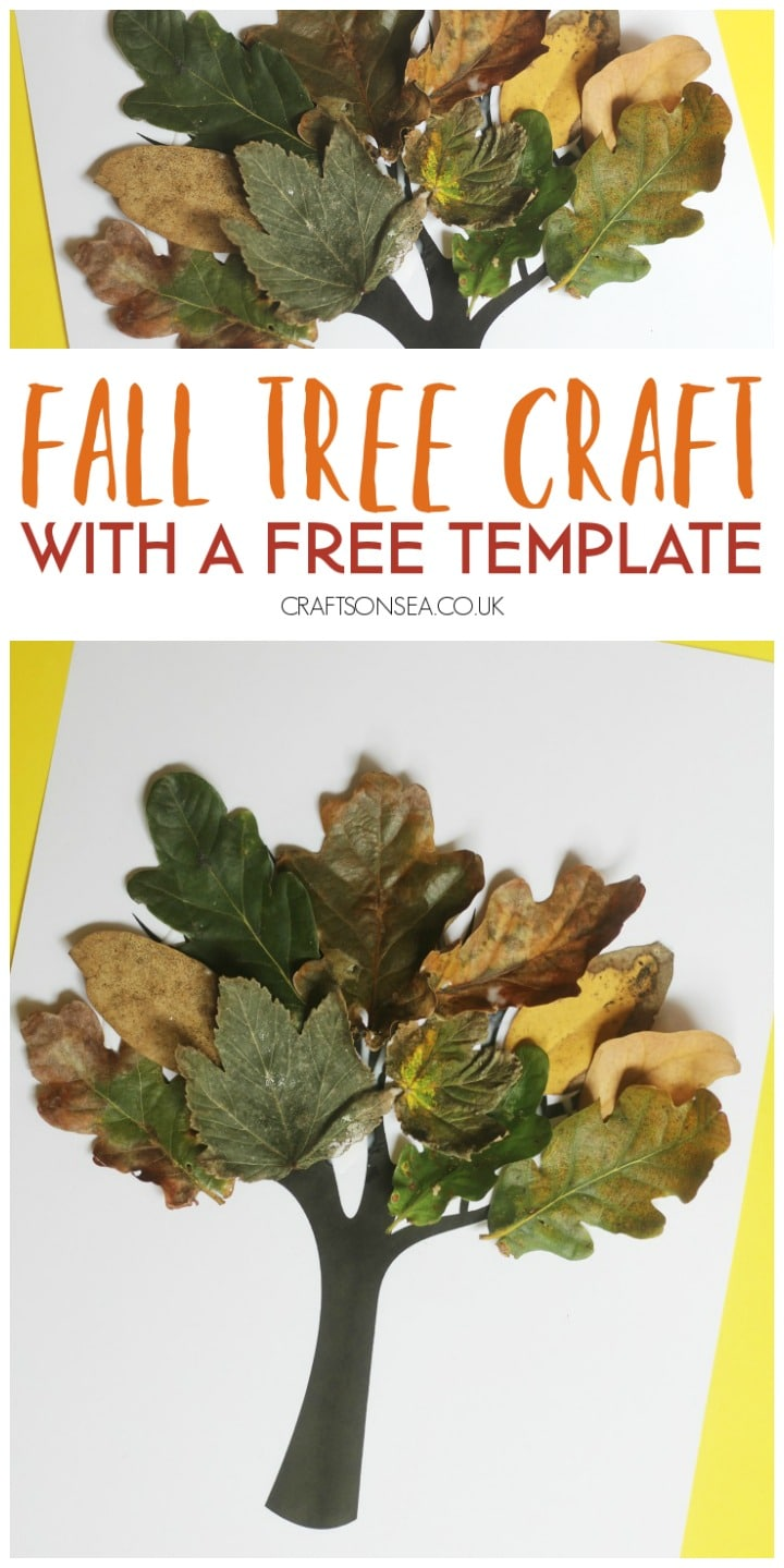 Fall Tree Craft with Real Leaves