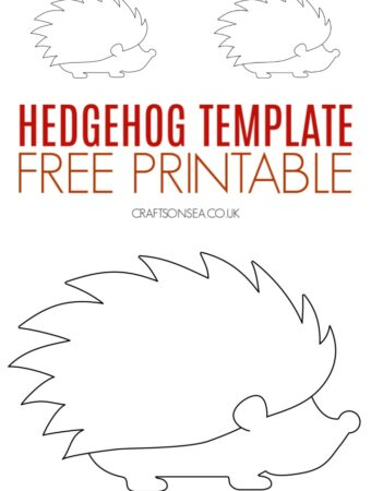 Hedgehog template printable