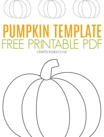 Pumpkin template free PDF