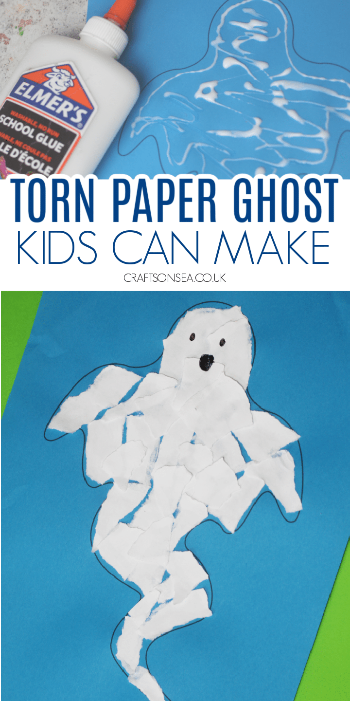 TORN PAPER GHOST CRAFT KIDS CAN MAKE
