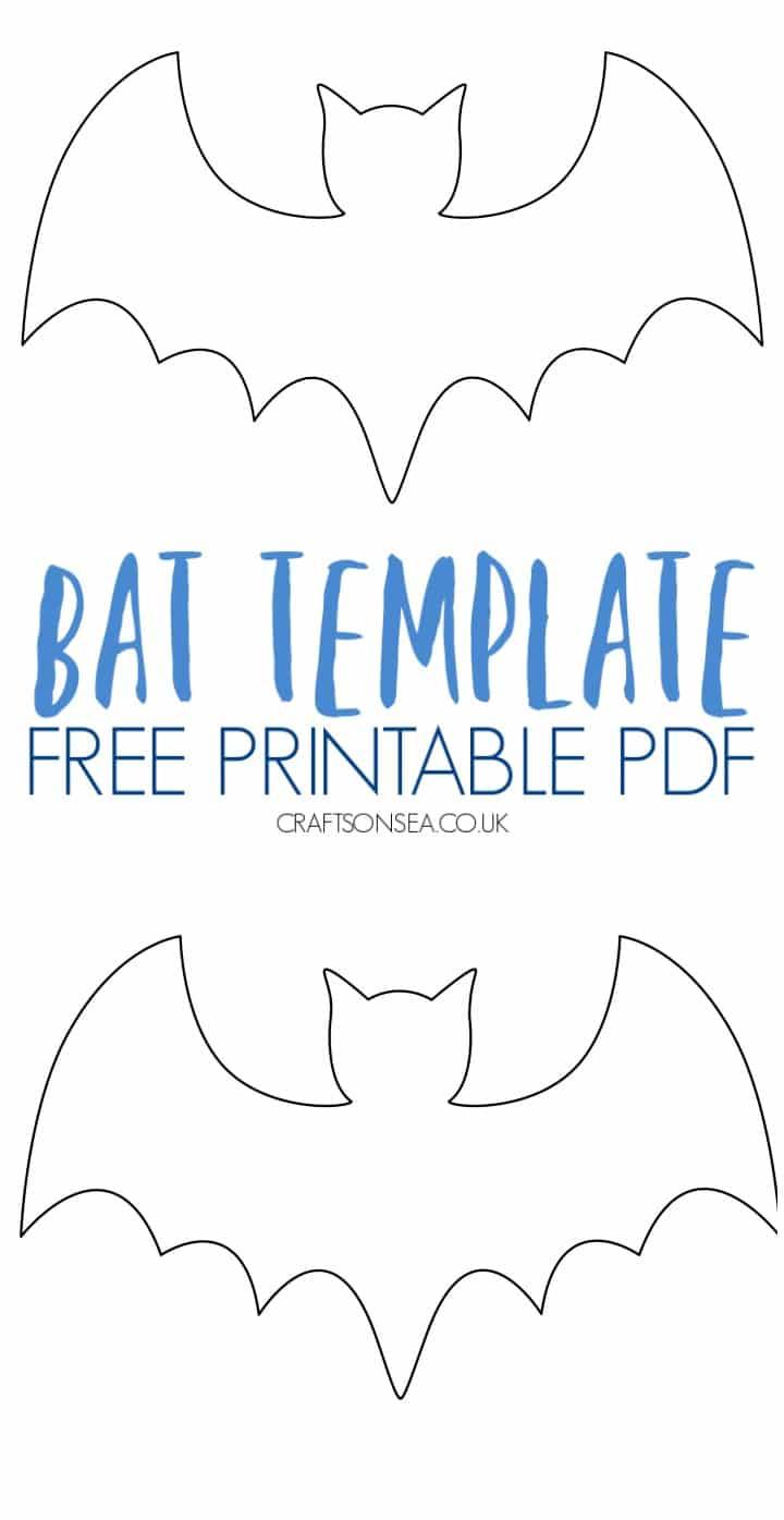 bat template free printable pdf