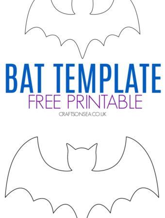 bat template printable free