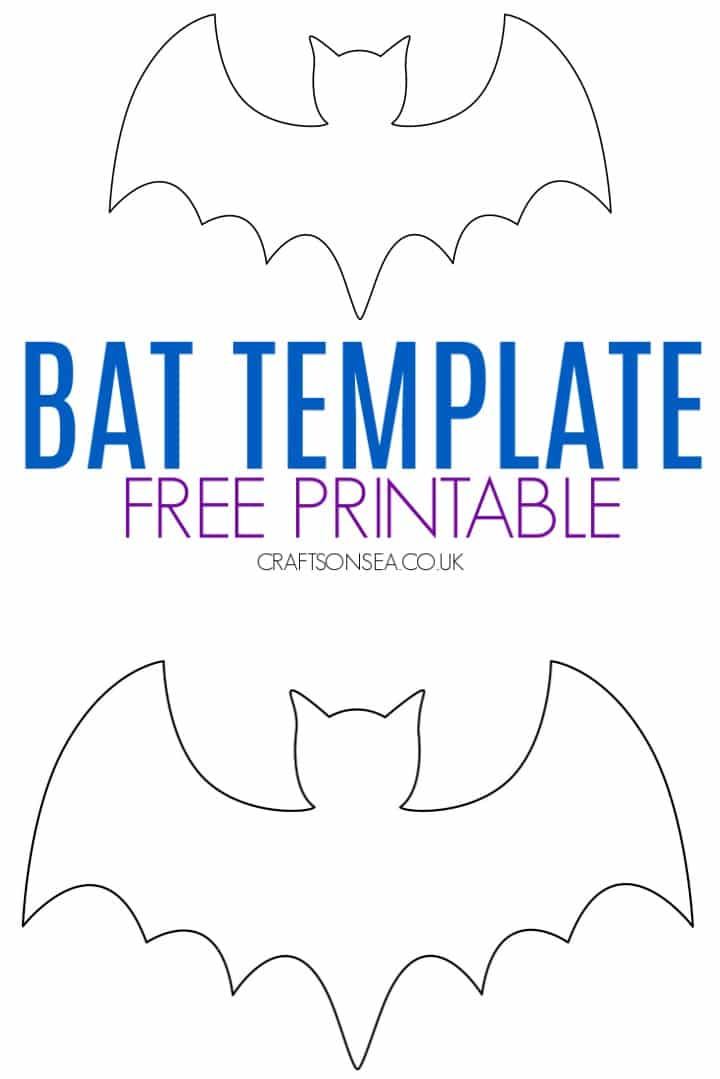 bat template printable free