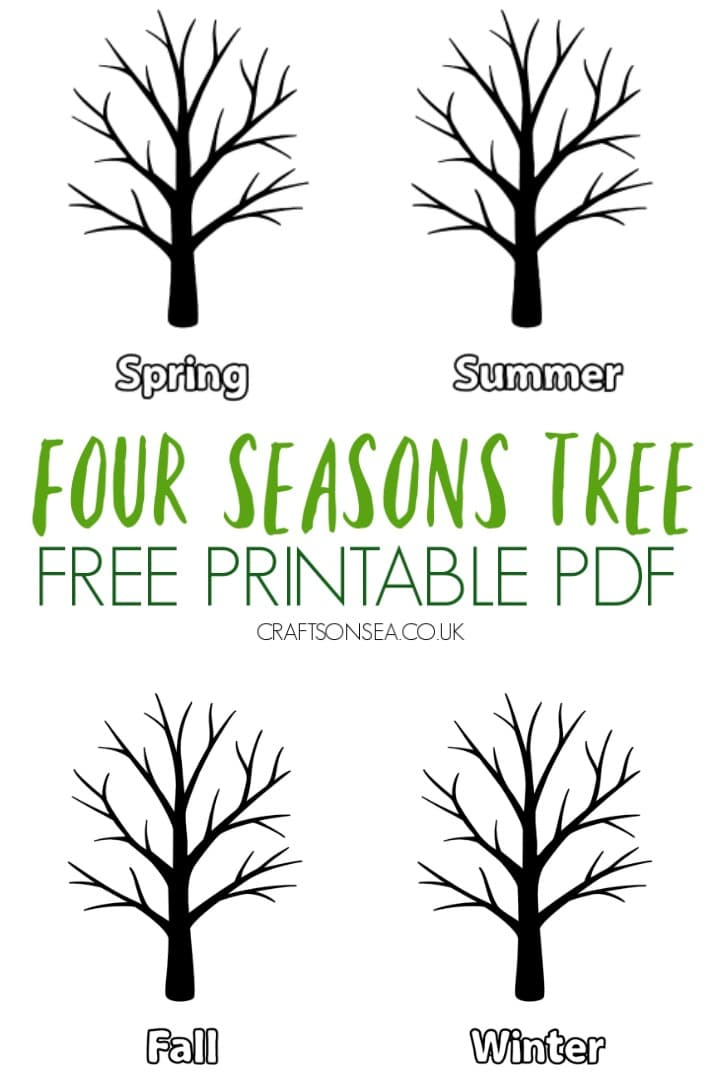 four seasons tree printable template free