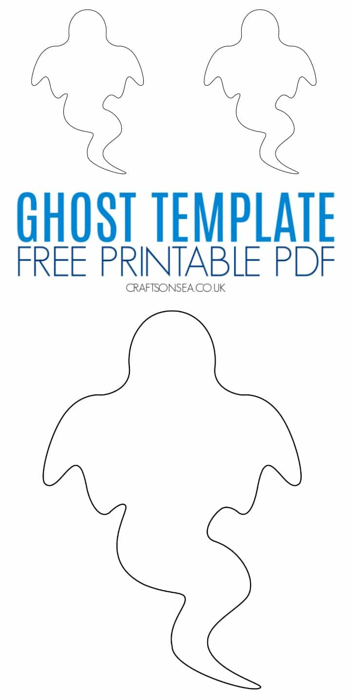 free ghost template printable pdf