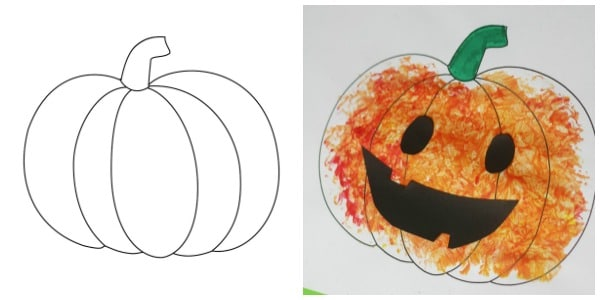 pumpkin template for kids crafts