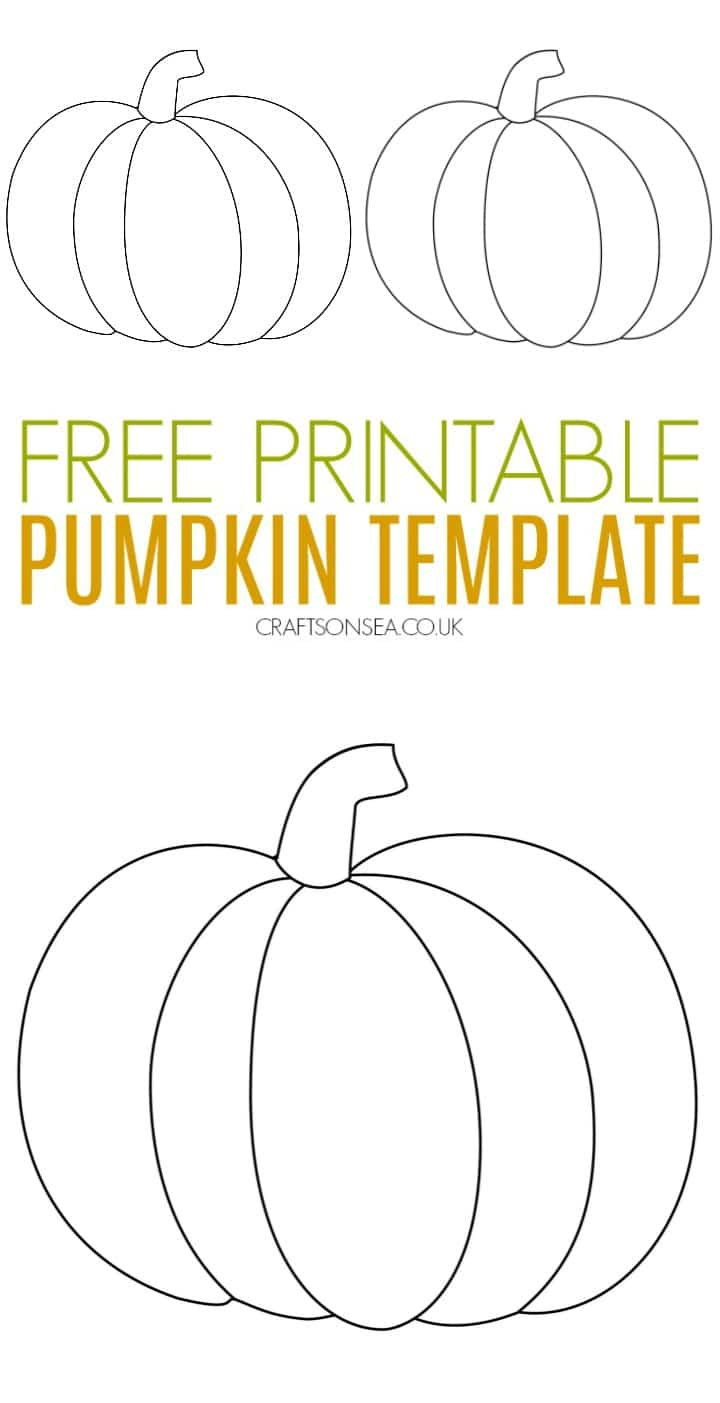 pumpkin template free printable for kids