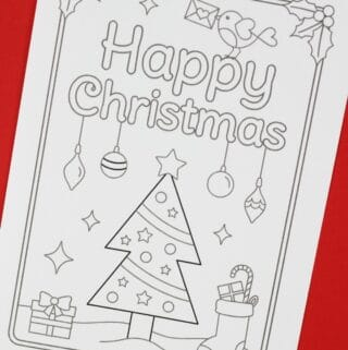 Printable Christmas Cards To Colour Free