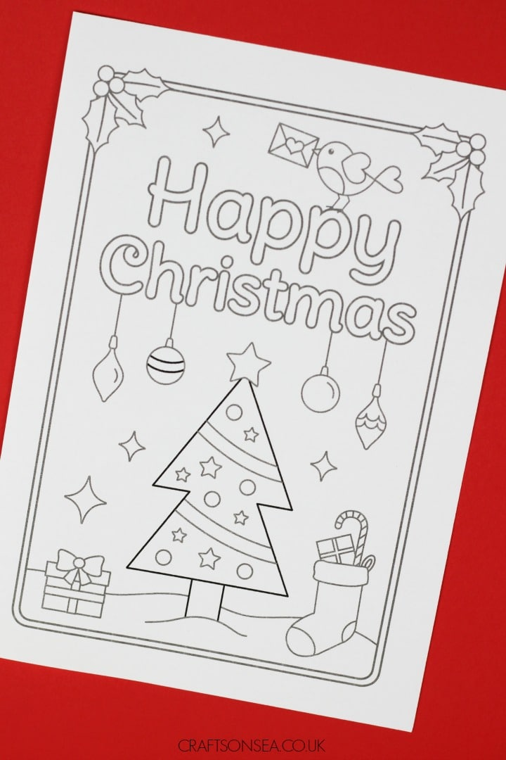 Printable Christmas Cards To Colour Free