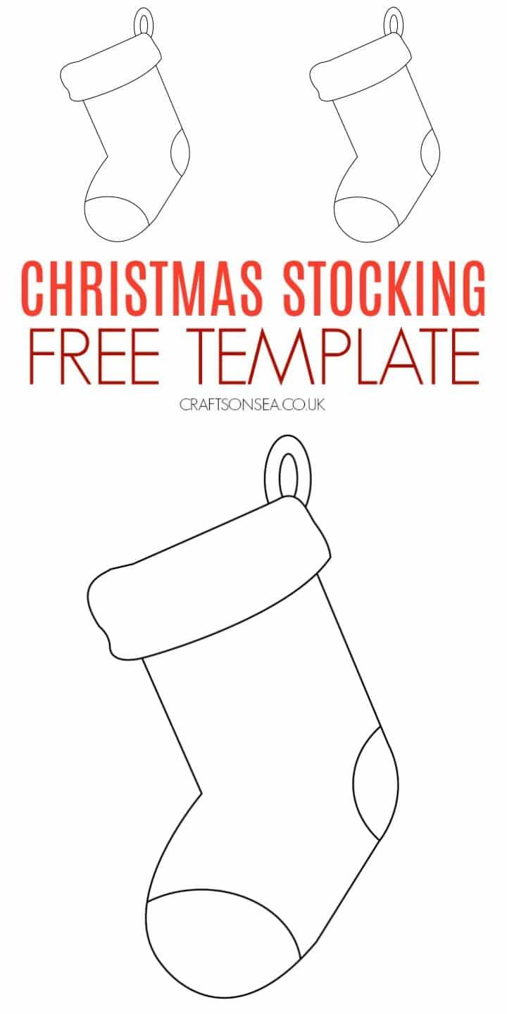 christmas stocking free template printable