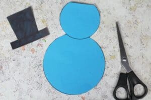 cut out parts of snowman template