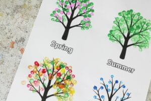 four seasons tree craft for kids easy