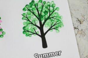 four seasons tree craft summer