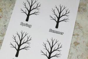 four seasons tree craft template