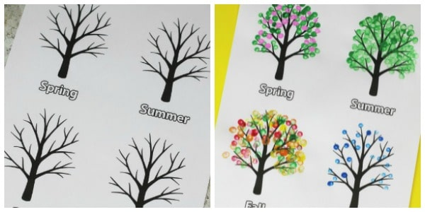 free four seasons tree template printable