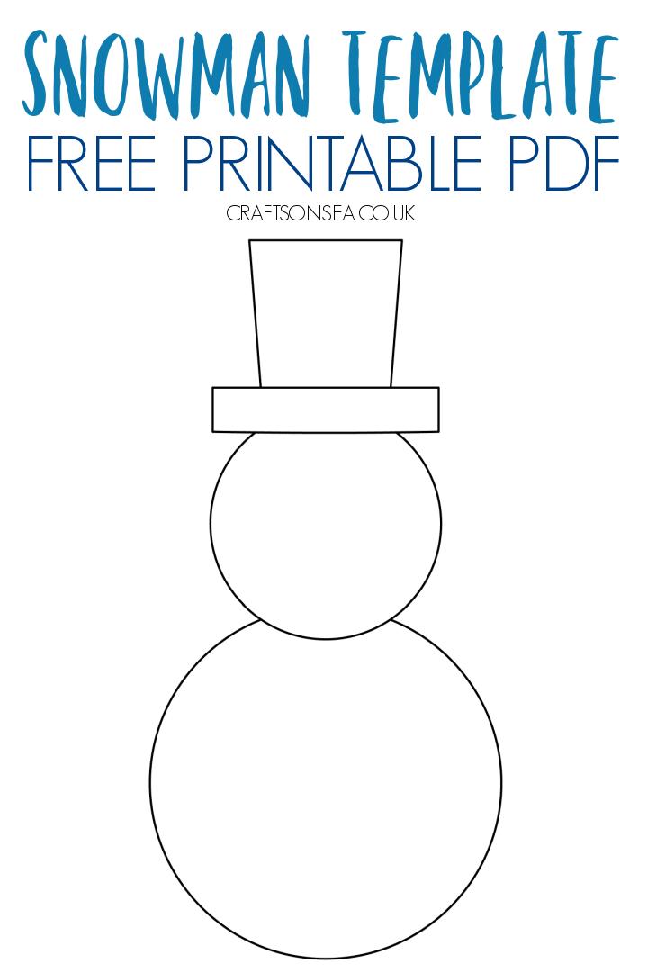 snowman template pdf blank