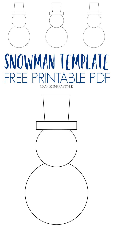 snowman template printable PDF