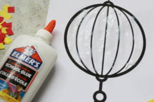 chinese lantern craft glue