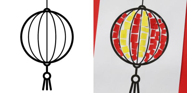 chinese lantern template 300
