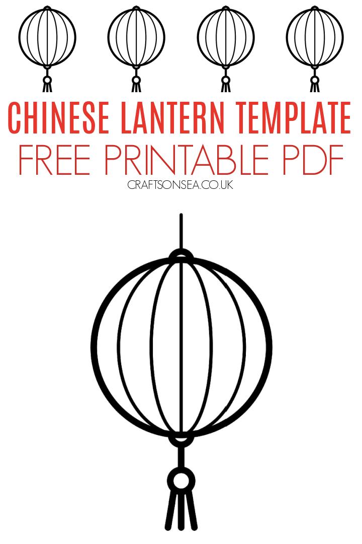 chinese lantern template free pdf