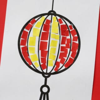 mosaic chinese lantern craft for kids