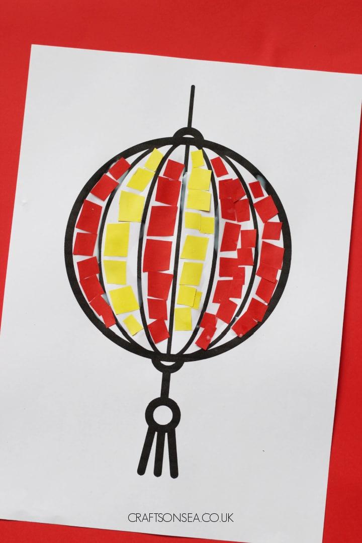 mosaic chinese lantern craft for kids