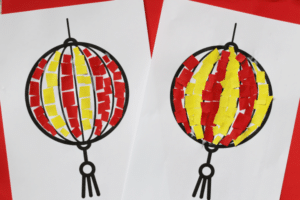 paper chinese lantern craft for kids easy