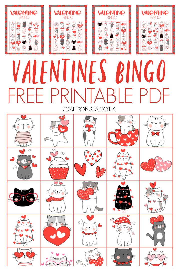 valentines bingo printable free