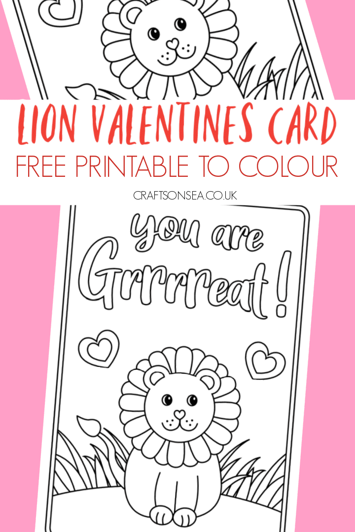valentines cards for kids to colour free printable