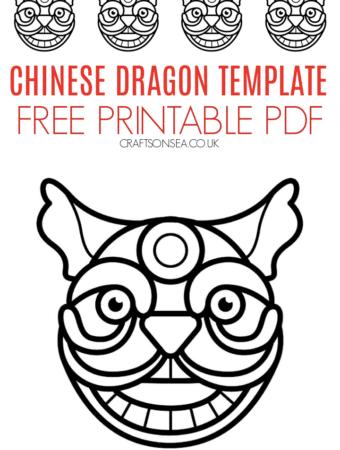 chinese dragon template free pdf