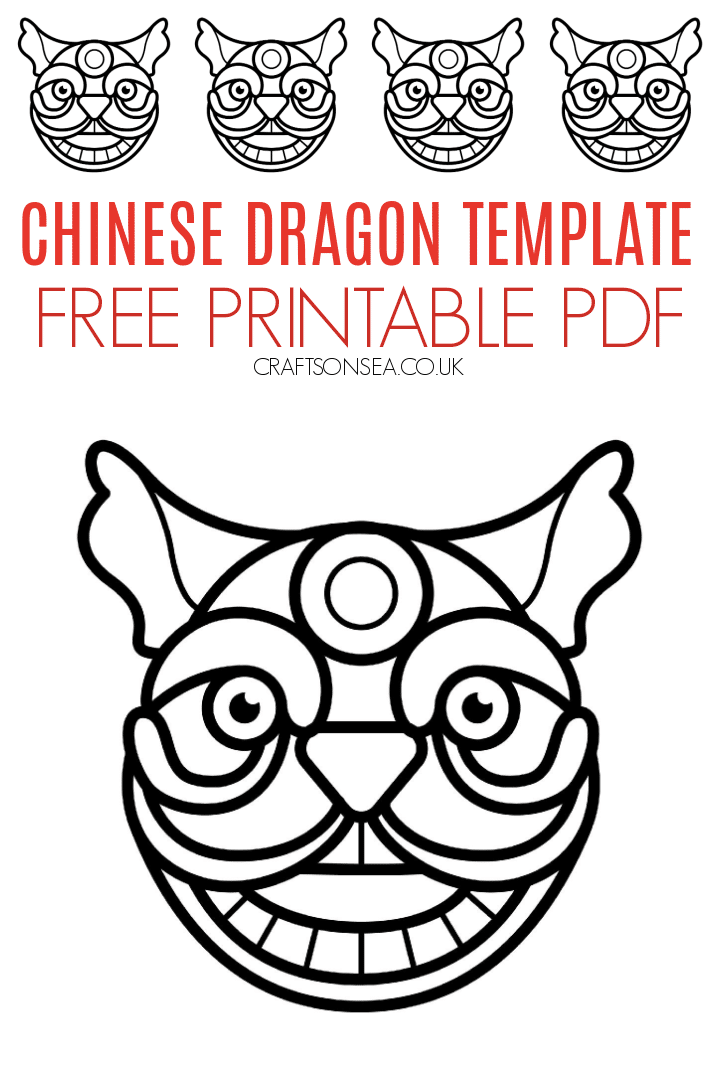 chinese dragon template free pdf