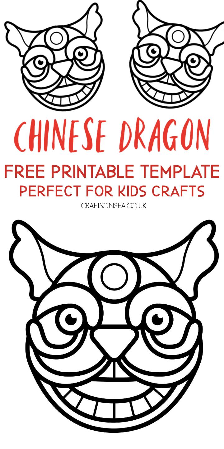 chinese dragon template free printable pdf