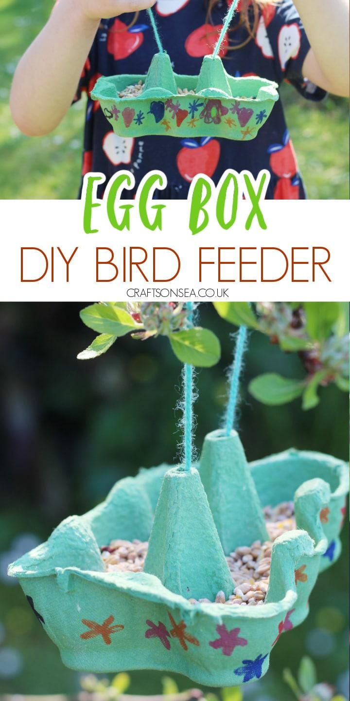 egg box bird feeder kids can make homemade diy