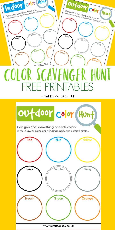 color scavenger hunt free printable pdf