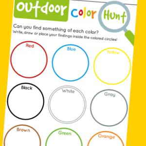 colour scavenger hunt 300
